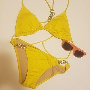 VS Yellow Bling Swim Bottoms